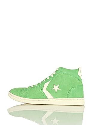 Converse Zapatillas Pro Leather Lp Mid Suede (Verde)
