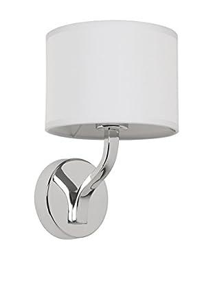 SULION Lámpara De Pared Torino Plata/Blanco