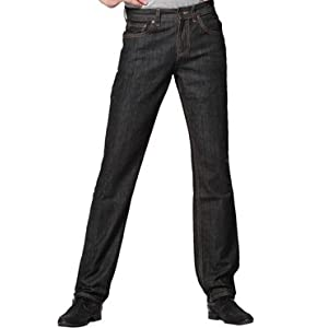 Ooz Mens Black Slim Tapered Jeans
