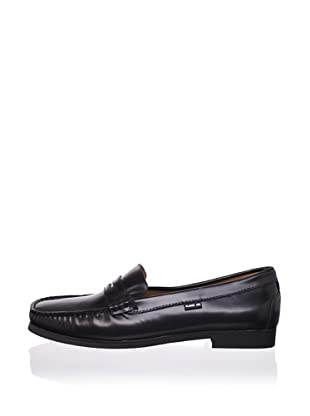 Pliner Jrs Henry Loafer (Black Oil Leather)