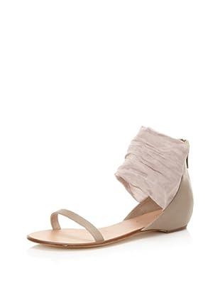 Delman Women's Liza Ankle Cuff Sandal (Sand/Mauve)