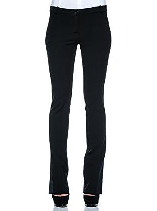 Annarita N Pantalón de Vestir Flared/Zampa (Negro)