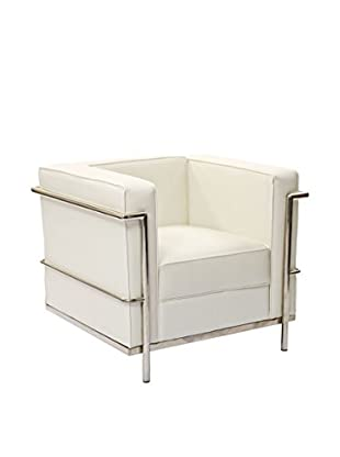 Modway Charles Petite Leather Armchair (White)