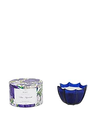 D.L. & Co. Blue Hyacinth 10-Oz. Etched Scallop Candle