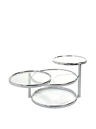 Contemporary Living Beistelltisch Three Rings metallic/transparent