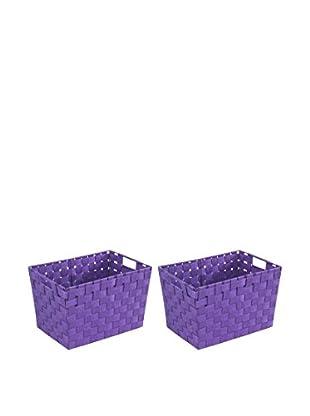 Wenko Aufbewahrungskorb 2er Set violett 35 x 20 x 25