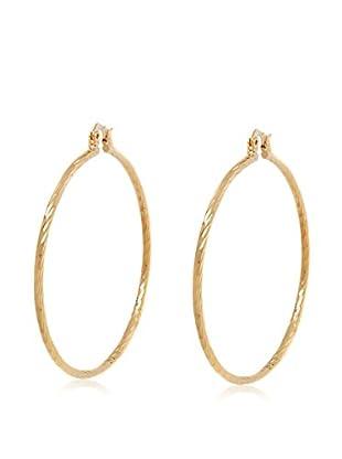 Sevil Gold Diamond-Cut Hoop Earrings