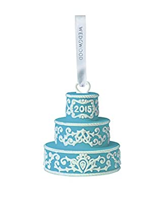 Wedgwood Our First Christmas 2015 Ornament, Blue