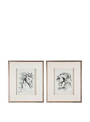 Gemälde 2er Set Horse