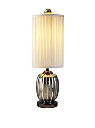 ORE International Metallic Tiles Table Lamp, Silver/Gold