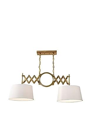 Feiss 2-Light Hugo, Bali Brass