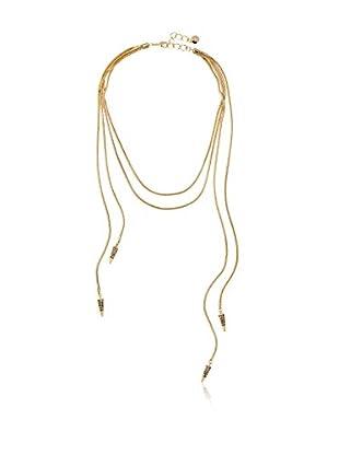 Fragments Cascading Pavé Snake Chain Necklace