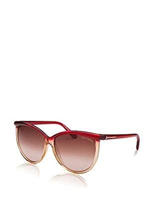 Tom Ford Gafas de Sol Ft296 68F 60 (60 mm) Rojo / Marrón