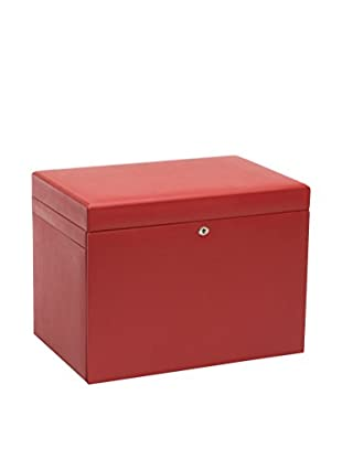 WOLF Extra Large Jewelry Box, Red