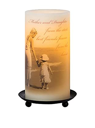 Candle Impressions Flameless Candle Pillar with Mother Sentiment, Cream