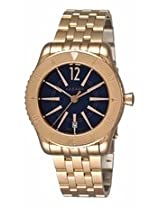 Azzaro Coastline Blue Dial Rose Gold Plated Stainless Steel Mens Watch Az2200.52Em.050