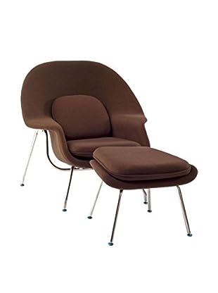 Modway W Lounge Chair (Brown)
