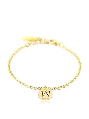 Ettika 18K Gold-Plated W Initial Chain Bracelet