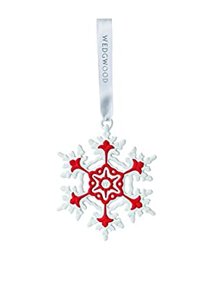 Wedgwood Snowflake Ornament, Red