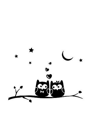 Ambiance Sticker Wandtattoo Owls Lover On Tree Stick