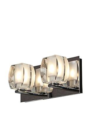 Access Lighting Evia 2-Light Vanity, Chrome/Crystal