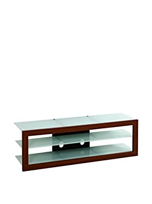 Techni Mobile TV Stand, Mahogany/Frosted Glass