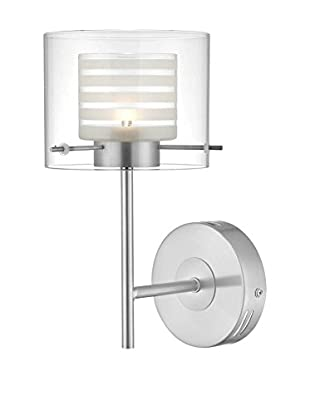 Lite Source Vito LED Wall Lamp, Polished Steel/Clear