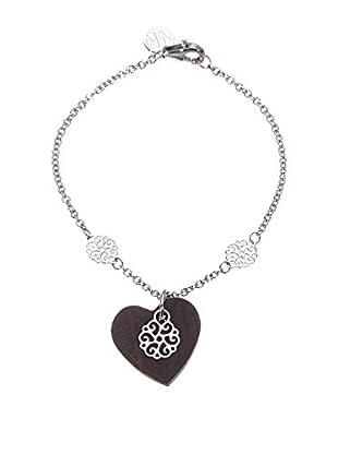 Nomination Armband Venus silber/schwarz
