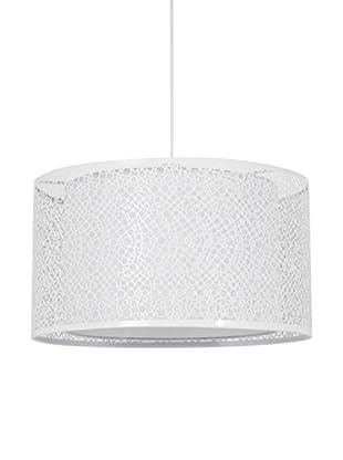 SULION Lámpara De Suspensión Calada Blanco