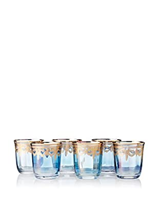 A Casa K Set of 6 Melodia Engraved Crystal 10-Oz. Double Old Fashioned Glasses