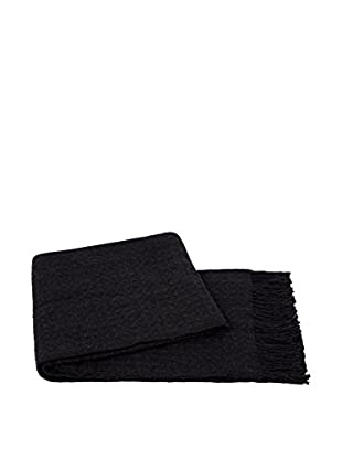 a & R Cashmere Waffleweave Throw, Charcoal Grey