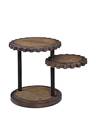 Bassett Mirror Company Sprockets End Table, Weathered Oak