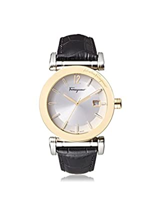 Salvatore Ferragamo Men's FP1860014 Salvatore Black/Silver Leather Watch