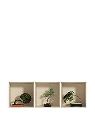Ambiance Sticker Wandtattoo 3er Set 3D Effect Bonsai Trees In Pot