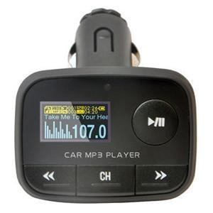 Mini Car FM Transmitter, Modulator With MP3 Player & USB, SD, AUX Support