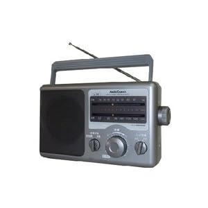 AudioComm AM/FM 2バンドラジオオーディオコム オーム電機 RAD-F610Z(07-7761)