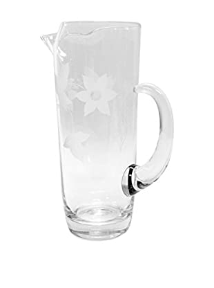 Glass Pitcher with Starburst Pattern, Clear
