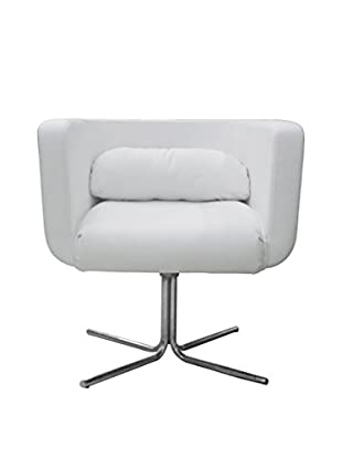 Furniture Contempo Maria Chair, White/Chrome