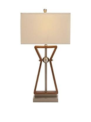 Wood & Steel Task Desk Lamp