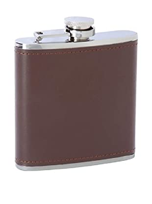 Leather Bound Flask, Brown
