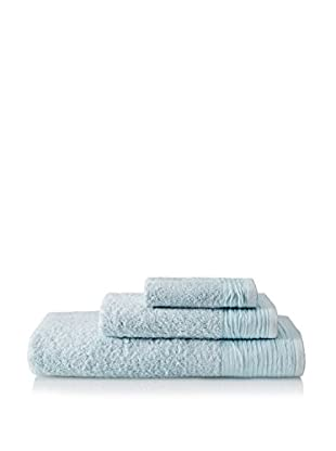 Nine Space Pleated 3-Piece Towel Set, Light Blue