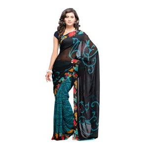 Fabdeal Women Georgette Printed Saree