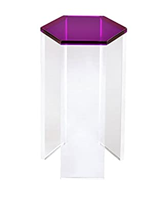 Fox Hill Trading Acrylic Six-Sided Accent Table, Purple