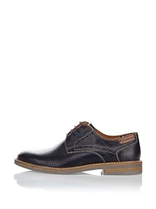 Fretz Men Zapatos Derby Andrew (Azul Claro / Cuero)