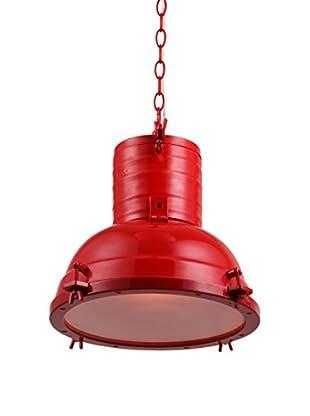 Urban Lights Industrial 1-Light Pendant Lamp, Red