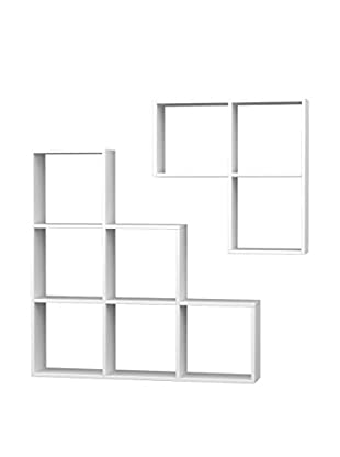 Best seller living Set Librería 2 Uds. Portion Blanco