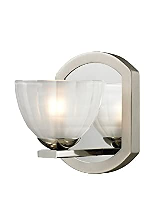 Artistic Lighting Sculptive Collection 1-Light Bath Sconce, Polished/Matte Nickel