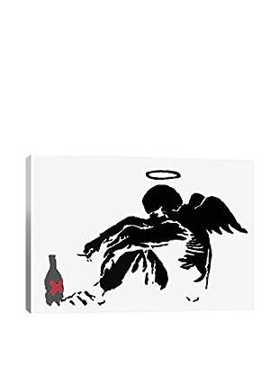 Banksy Drunken Angel #1 Gallery Wrapped Canvas Print