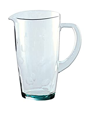 Be Home Recycled Glass with Dots 24-Oz. Pitcher, Clear