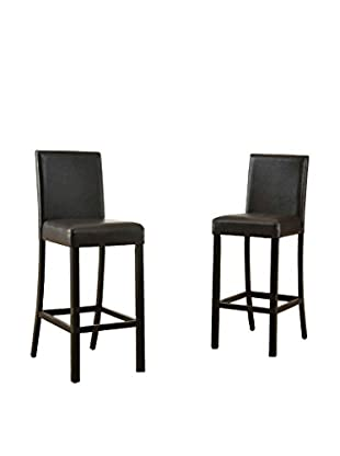 Baxton Studio Set of Torino Modern Bar Stools
